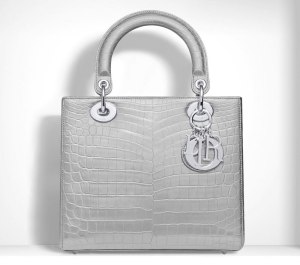 Dior-Lady-Dior-Metallic-Crocodile-Bag