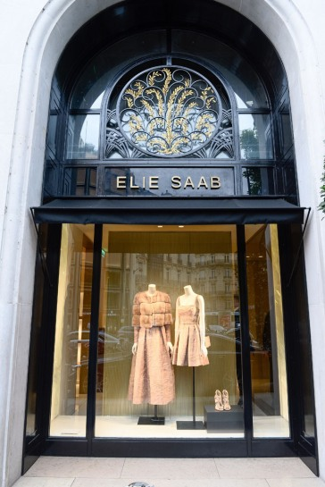 E.Saab store opening Couture Fall 2015
